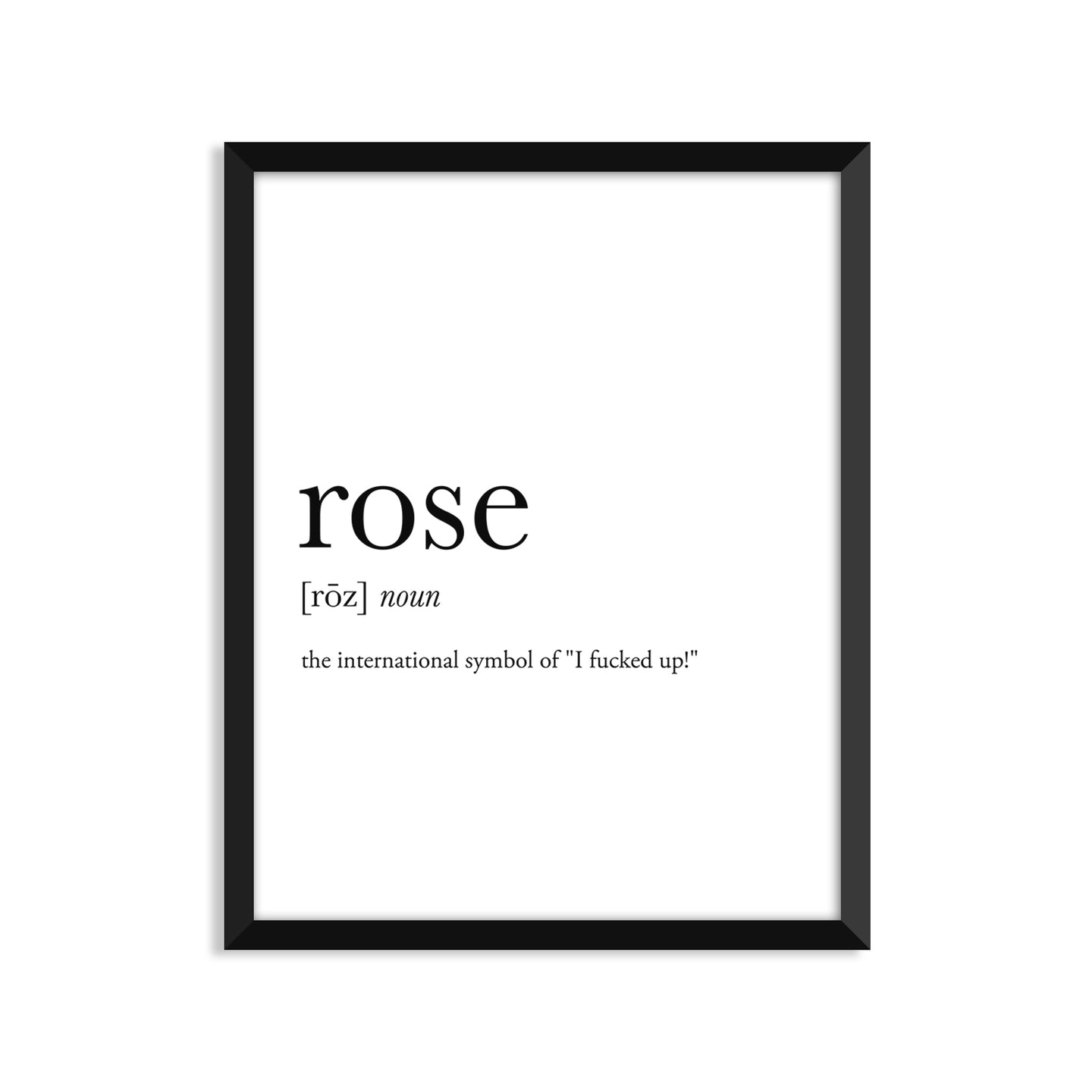 Rose Definition - Unframed Art Print Or Greeting Card