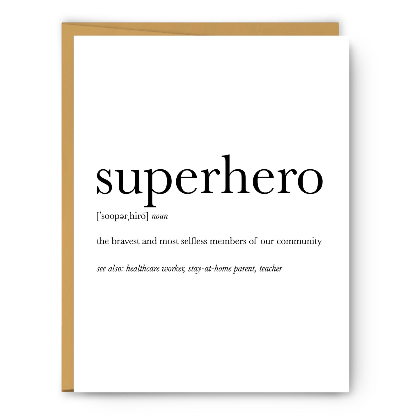 Superhero Definition - Unframed Art Print Or Greeting Card