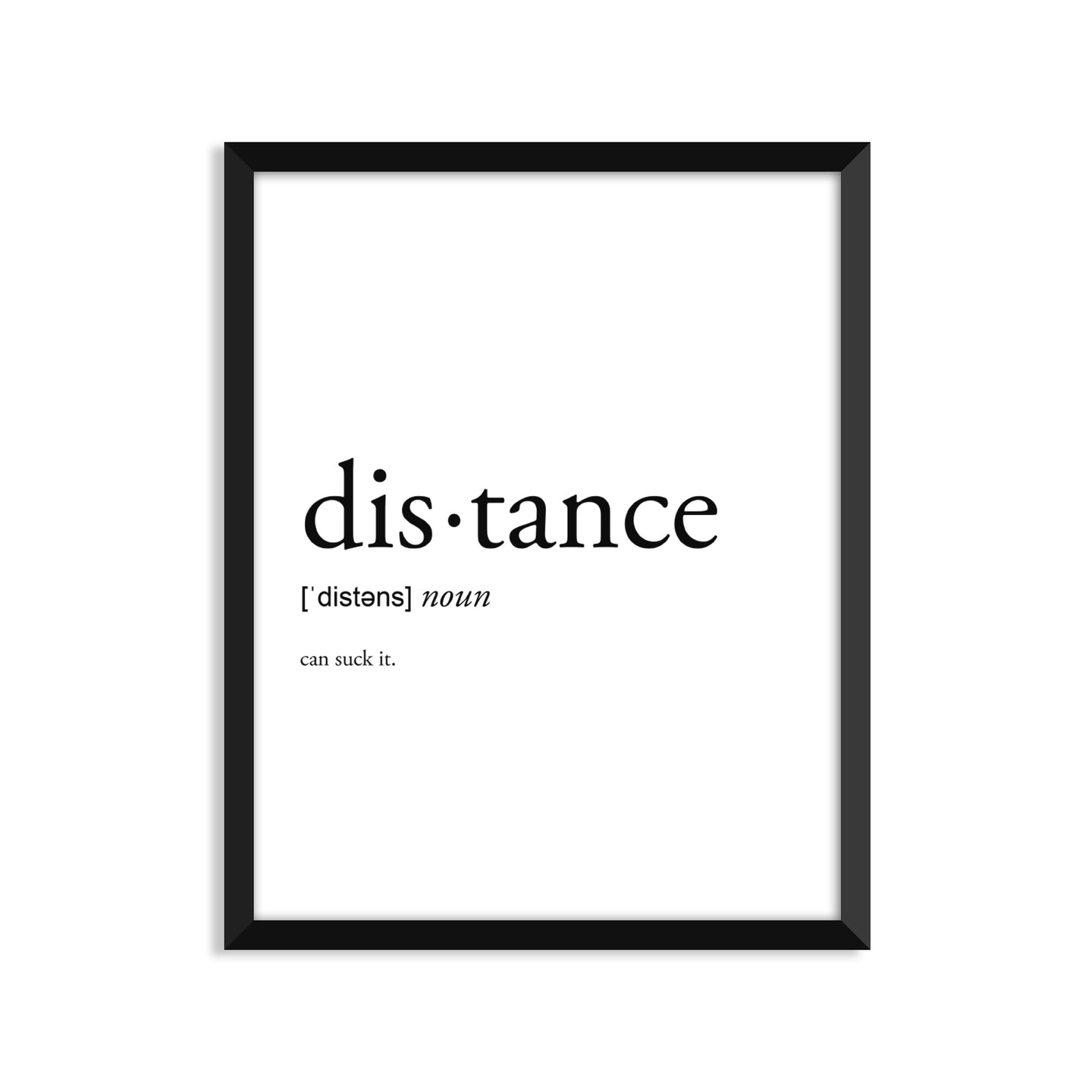 Distance Definition - Unframed Art Print Or Greeting Card