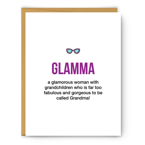 Glamma Definition Illustration - Unframed Art Print Poster Or Greeting Card