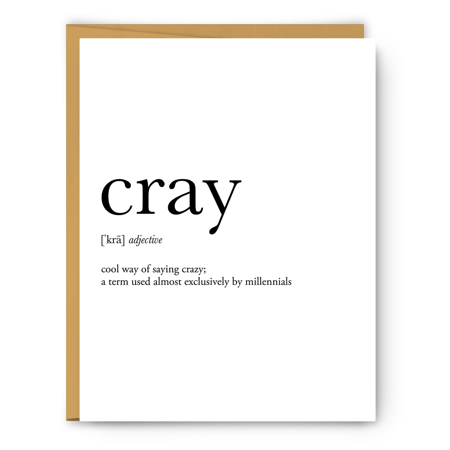 Cray Definition - Unframed Art Print Or Greeting Card