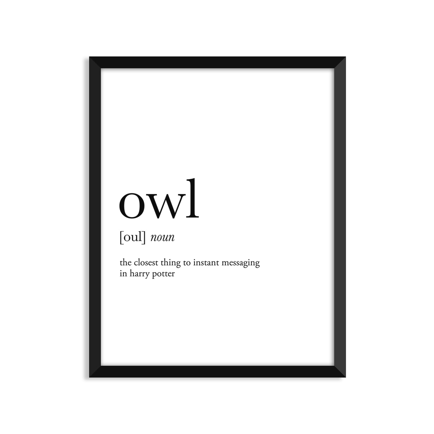 Owl definition art print or greeting card