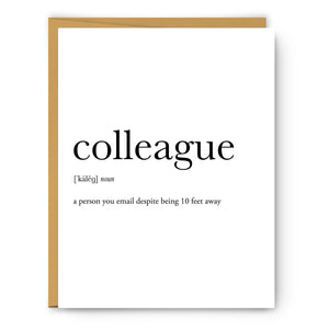 Colleague Definition - Unframed Art Print Or Greeting Card