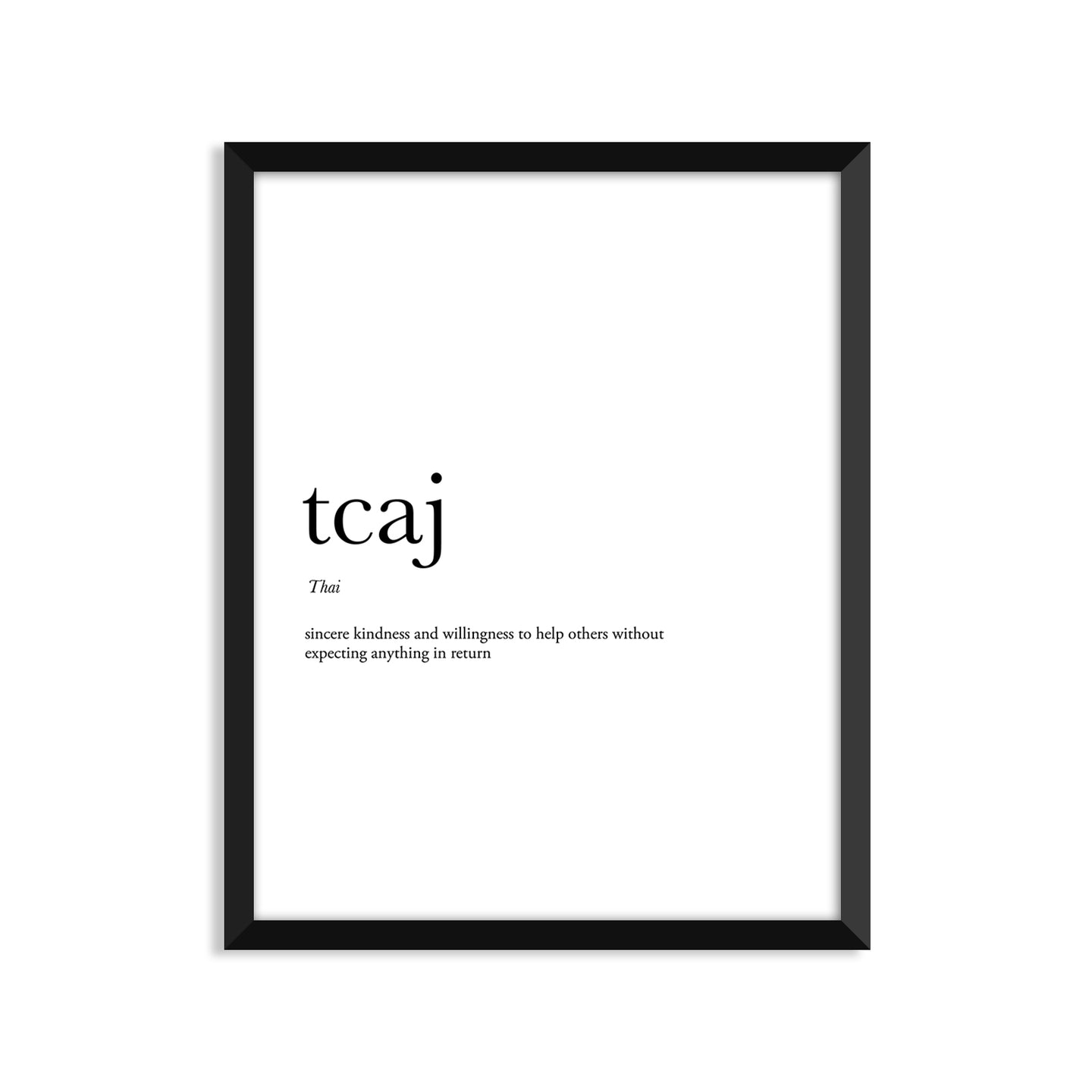 Tcaj Definition - Unframed Art Print Or Greeting Card
