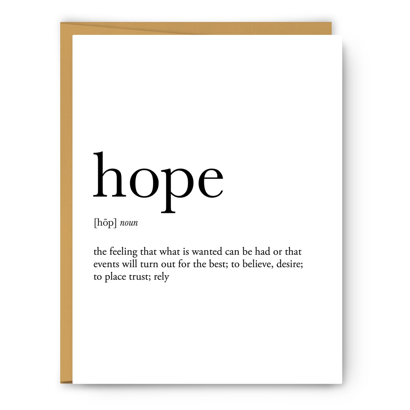 Hope Definition - Unframed Art Print Or Greeting Card