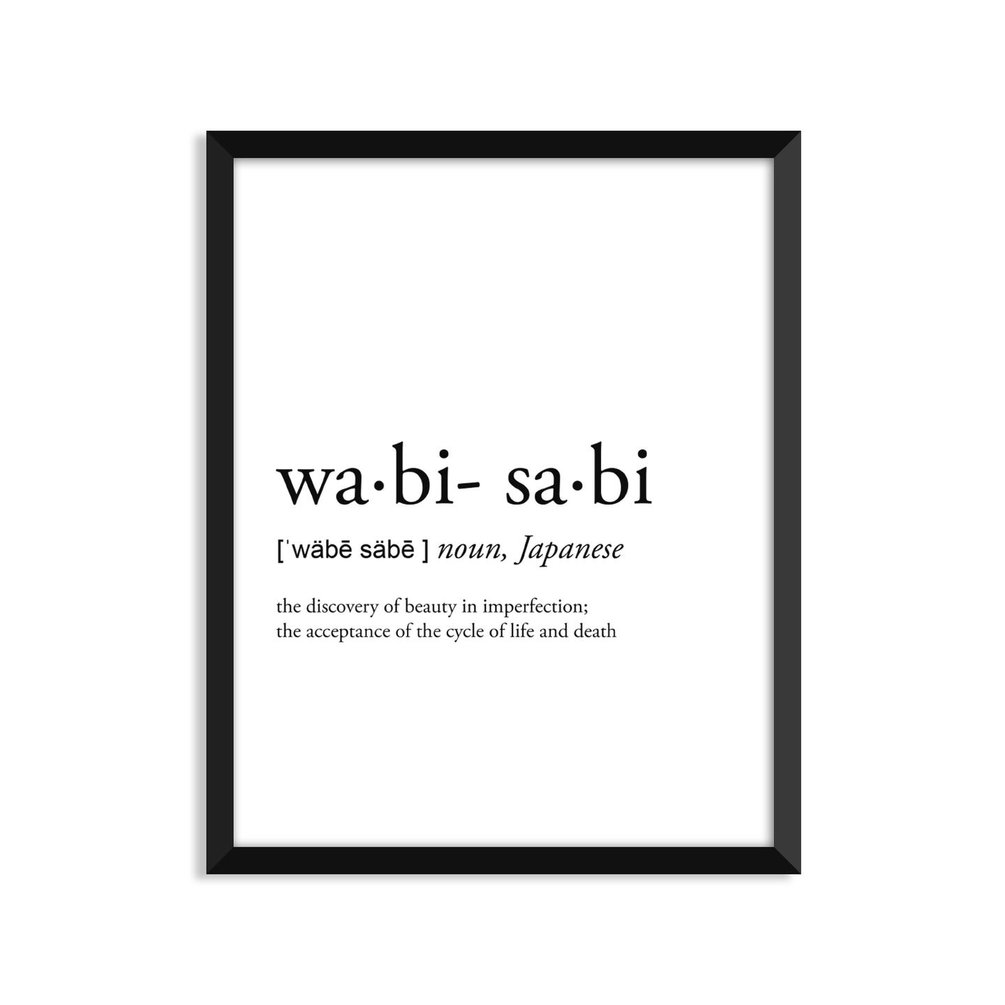 Wabi-Sabi Definition - Unframed Art Print Or Greeting Card