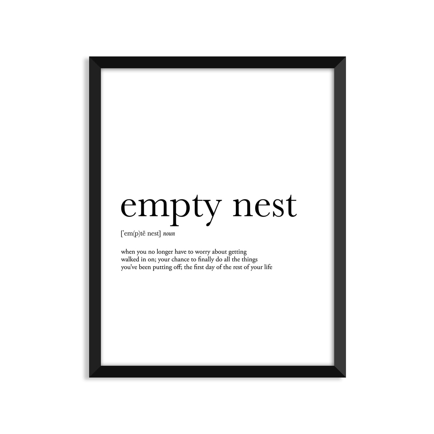 Empty Nest Definition - Unframed Art Print Or Greeting Card