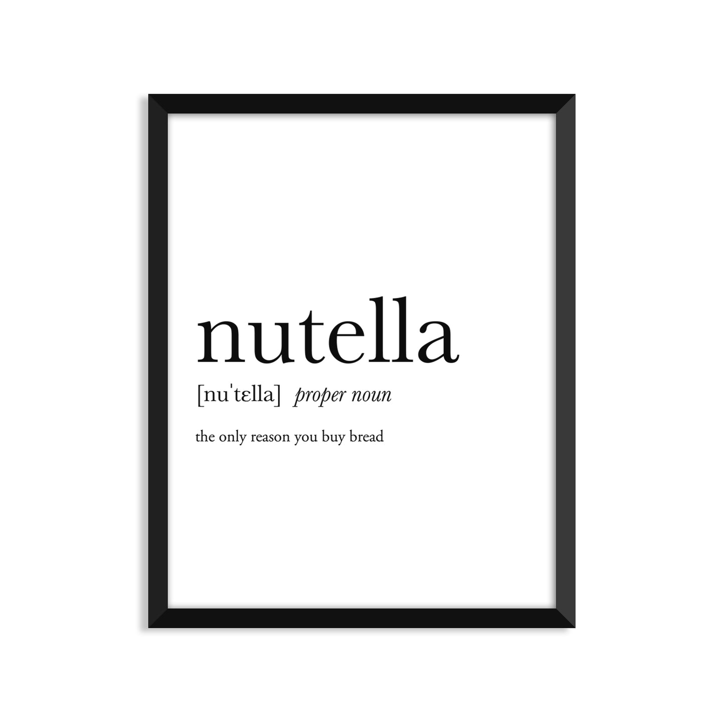 Nutella Definition - Unframed Art Print Or Greeting Card
