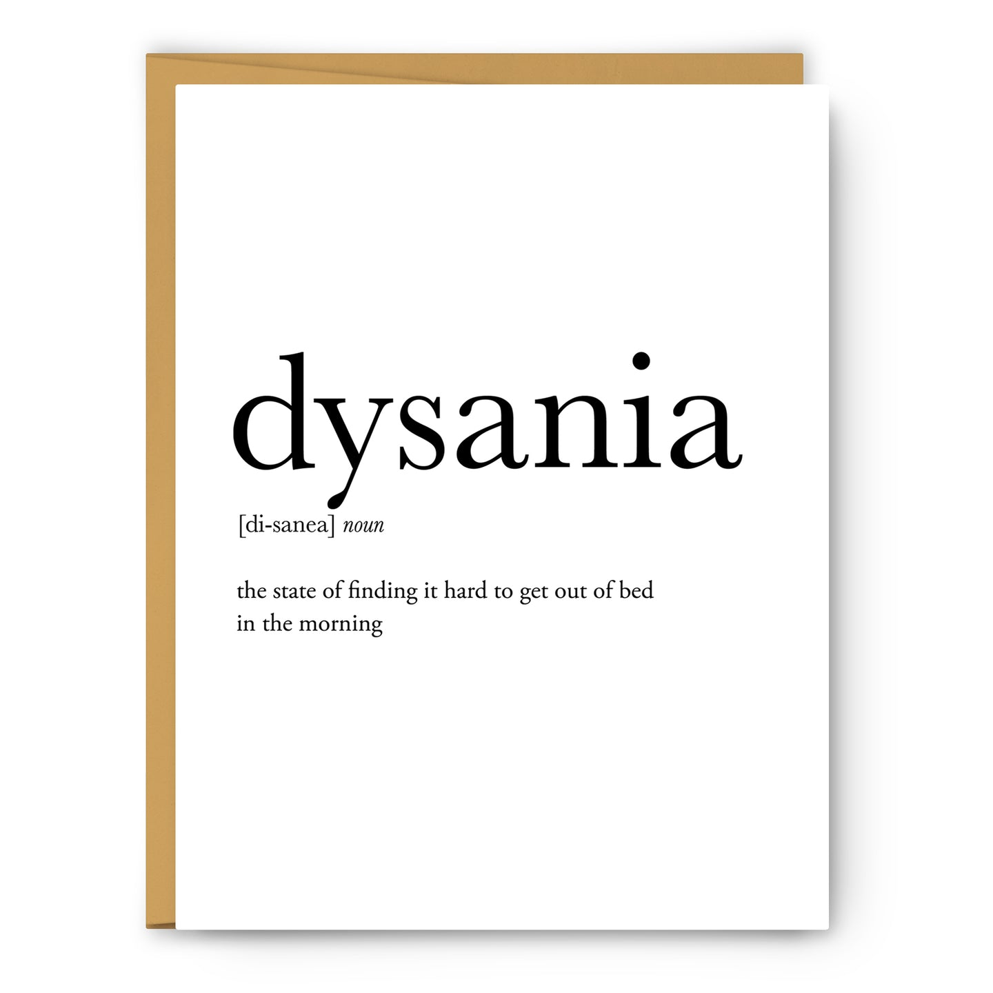 Dysania Definition - Unframed Art Print Or Greeting Card