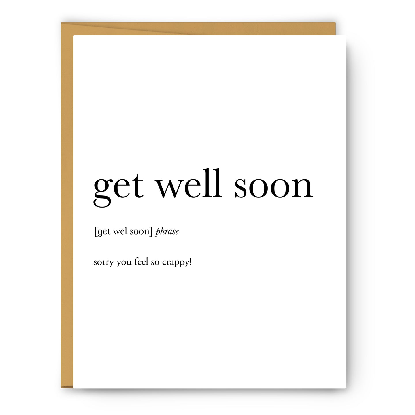 Get Well Soon Definition - Unframed Art Print Or Greeting Card