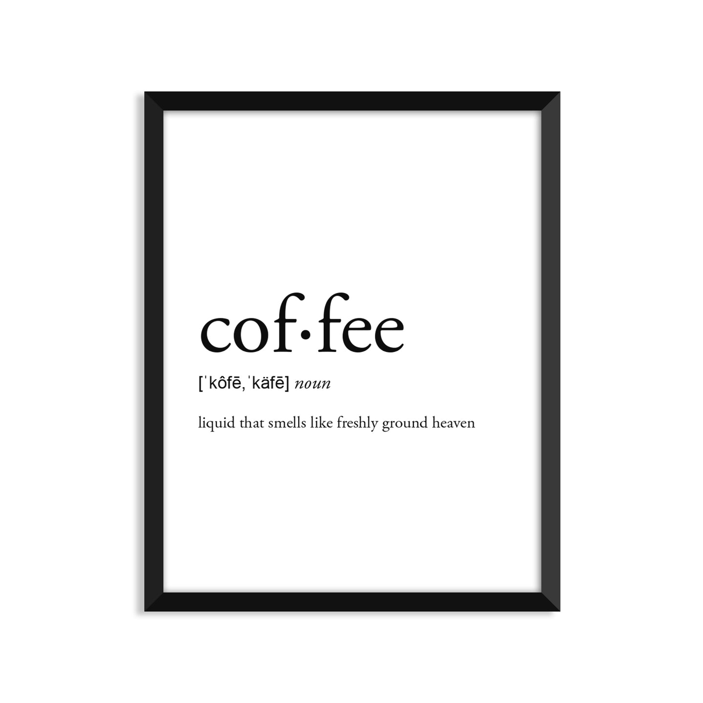 Coffee Liquid Definition - Unframed Art Print Or Greeting Card