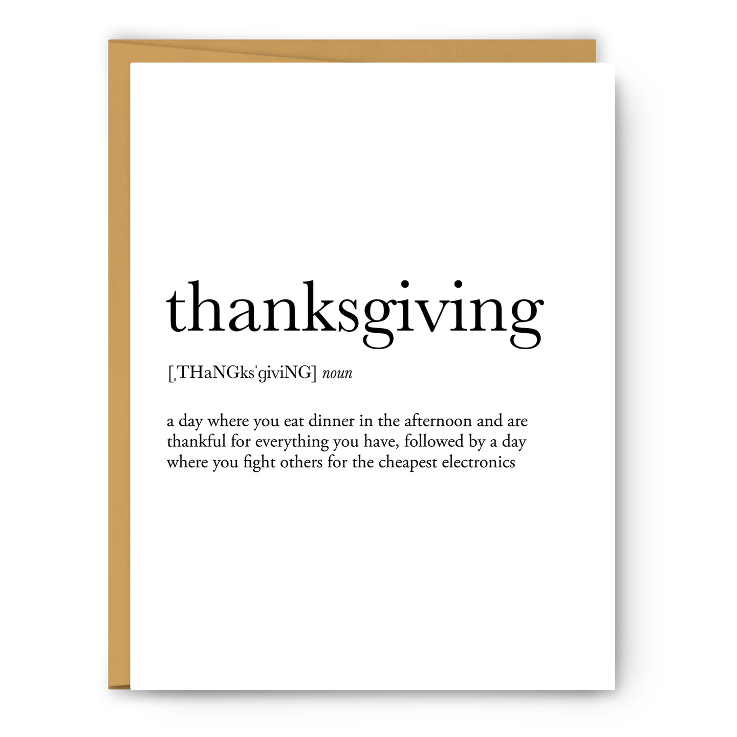 Thanksgiving Definition - Unframed Art Print Or Greeting Card