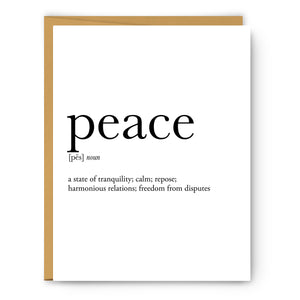 Peace Definition - Unframed Art Print Or Greeting Card