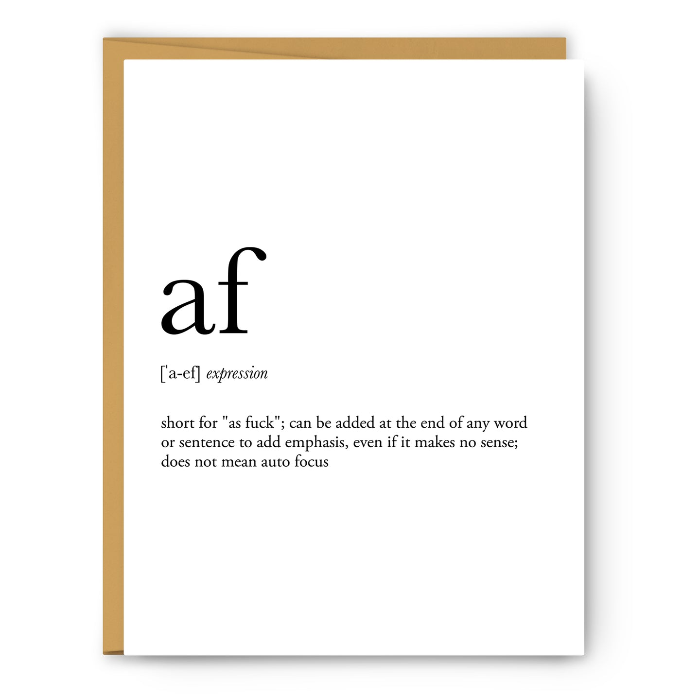 Af Definition - Unframed Art Print Or Greeting Card