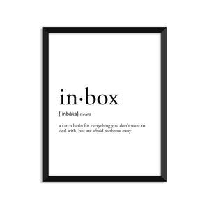 Inbox Definition - Unframed Art Print Or Greeting Card