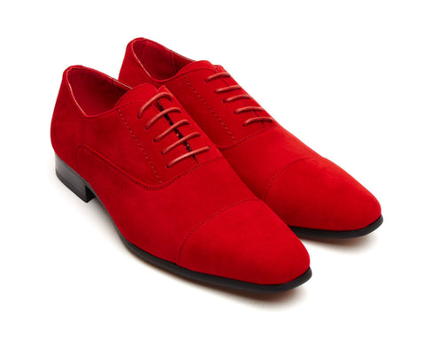 Red suede lace up brogue size 6 7 8 9 10 11 12 casual party gatsby shoe mens unique gift