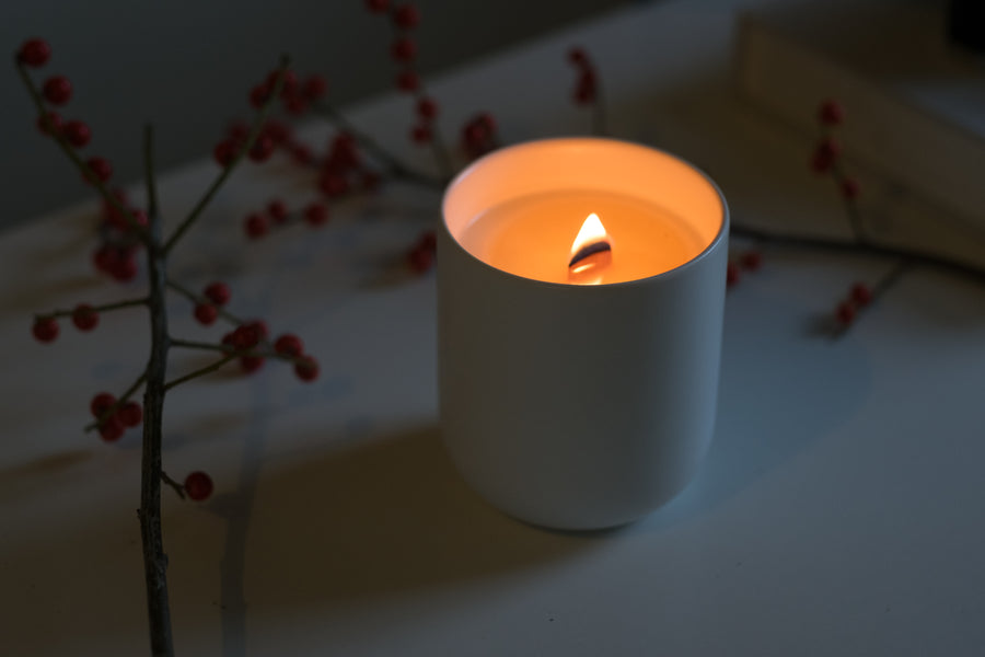 Norwegian Woods Ceramic Candle