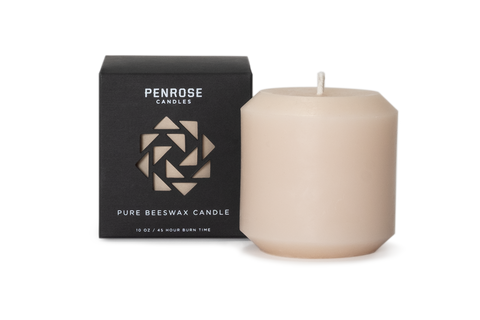 Nude Beeswax Pillar Candle