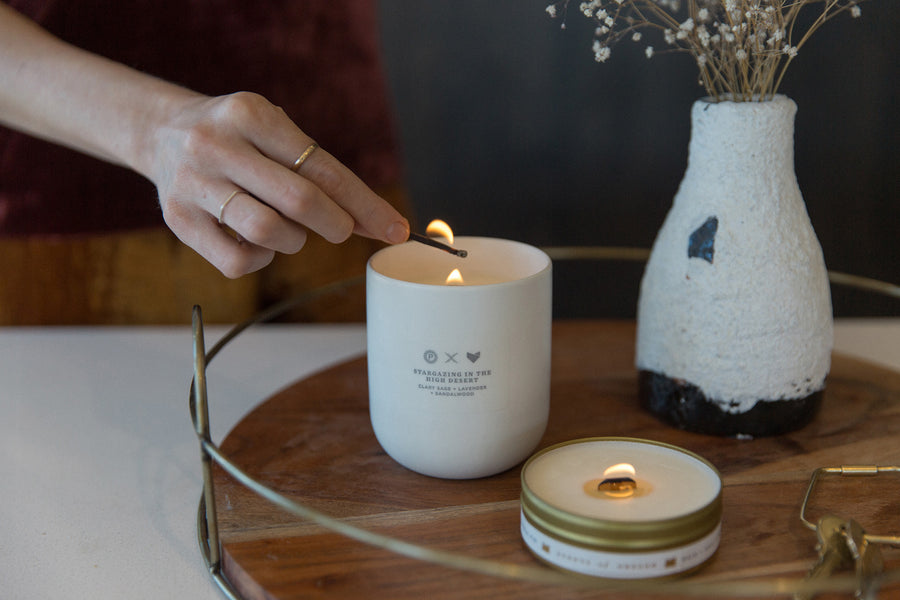 Scents of Oregon: Summer Rain Ceramic Candle