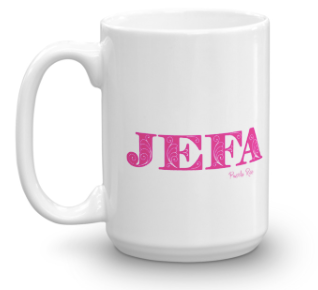 JEFA / Cash is Queen / PR - double sided Mug - pink