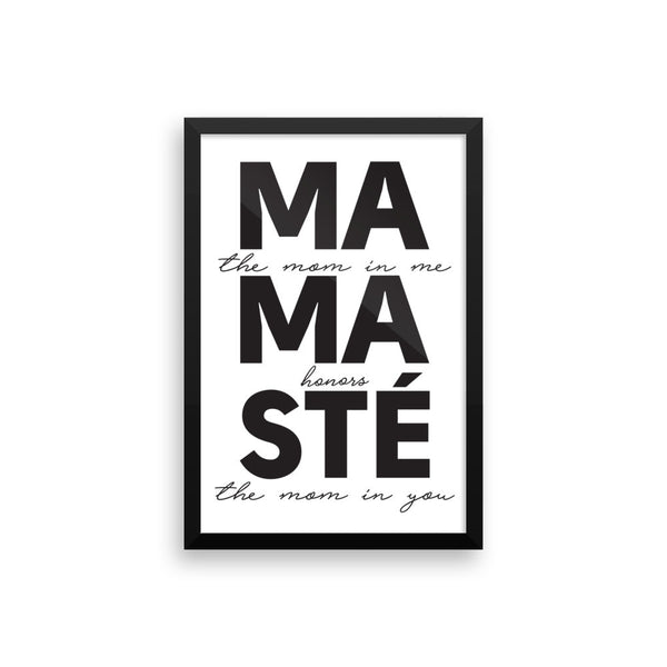MAMASTÉ - Framed photo paper poster