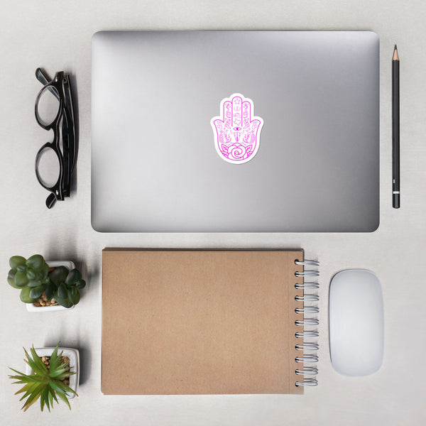 TEXAS HAMSA - PINK - Bubble-free stickers