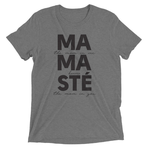 MAMASTÉ - UNISEX Short sleeve t-shirt with black script