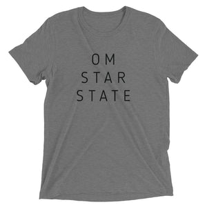 OM STAR STATE - UNISEX Short sleeve t-shirt with Black Script