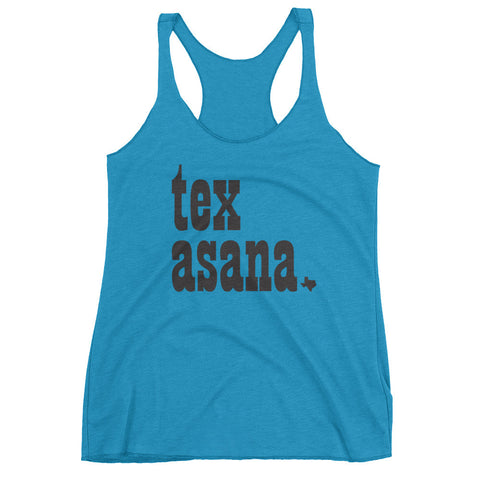 TEX ASANA - Women's tank top with Black Script