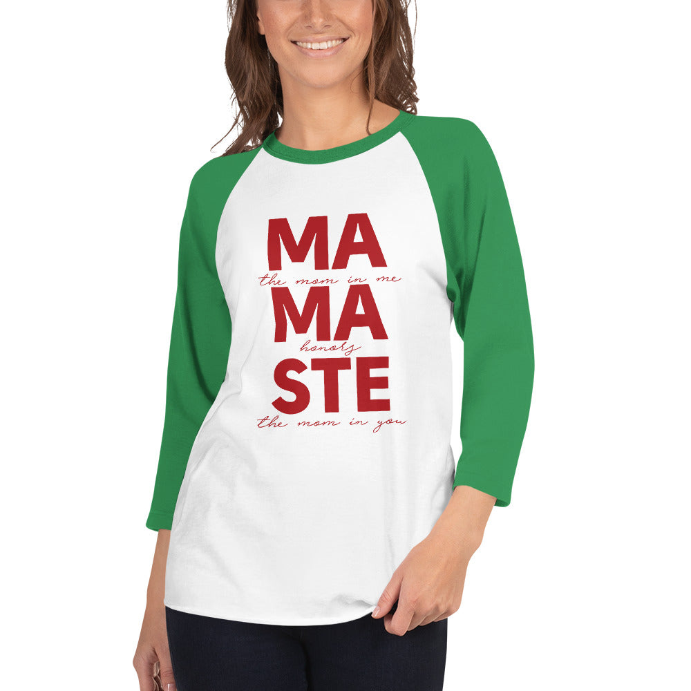 MAMASTÉ - SPECIAL EDITION HOLIDAY 3/4 sleeve raglan shirt