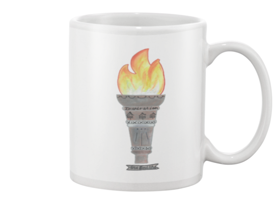 Life Path Number 11, Torch, 11-Ounce Ceramic Mug, Available in 4 Colors