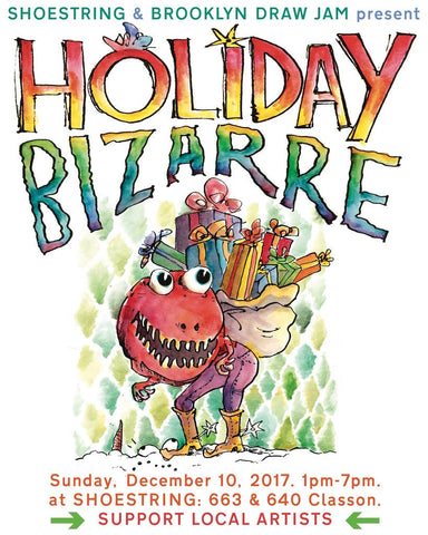 shoestring press holiday bizarre 2017 promo