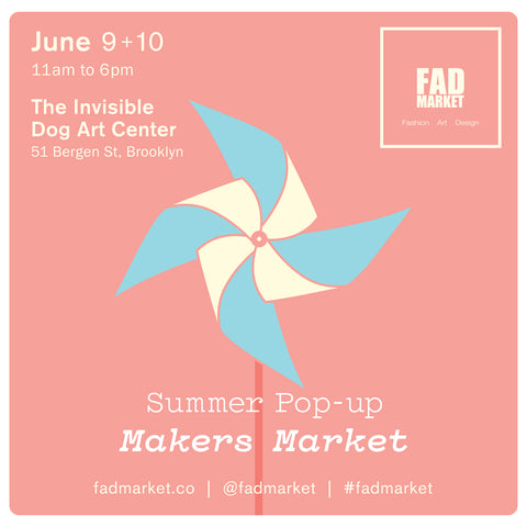 fad market summer pop up makers market at the invisible dog art center