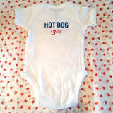Bitmap Press: Bootleg Food Cart (Hot Dog) Onesie