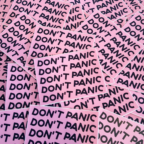 IRWIN, Todd: DON'T PANIC Sticker