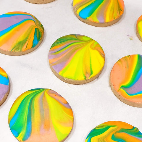 FHTS: Rainbow Glazed Honey Lavender Shortbread