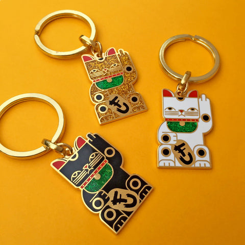 Amar&Riley: Goodbye Kitty Keychains