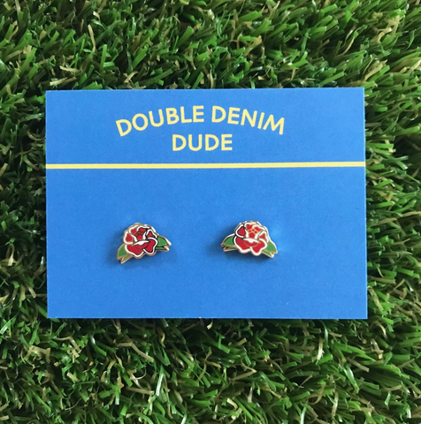 Double Denim Dude: Earrings