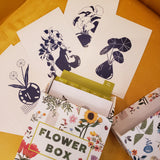 Flower Box Postcards: 100 Postcards by 10 Artists