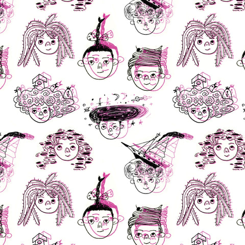Helen Chau: 'Hair Piece' Gift Wrap Sheet