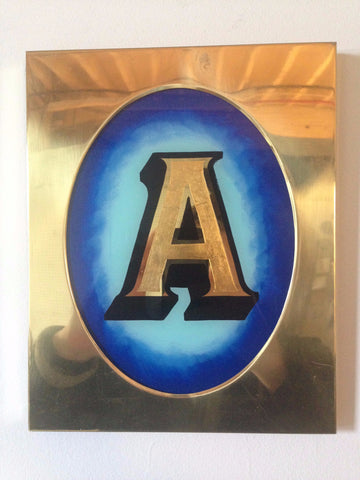 Kurt McRobert: 'Letter A' Glass Gild