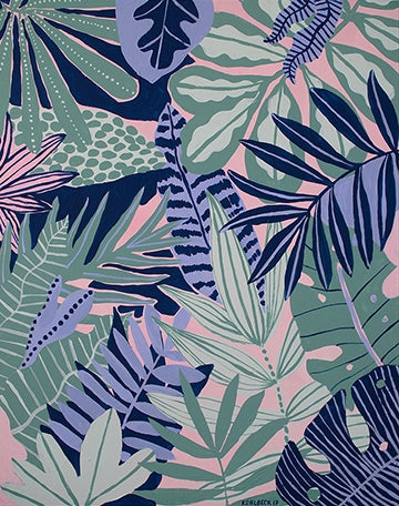 Kim Sielbeck: Plants on Pink Print