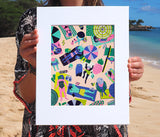Kim Sielbeck: Beach Party Print