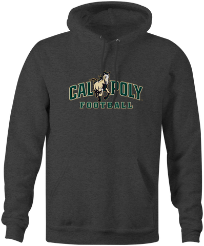 Cal Poly Football 10 oz. Heavyweight Hooded Sweatshirt