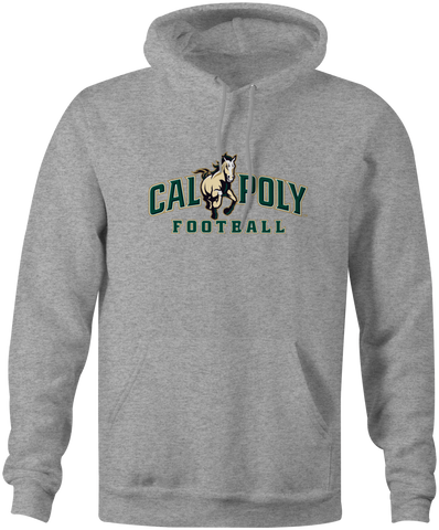 Cal Poly Football 8 oz. Mid-Weight Hooded Sweatshirt