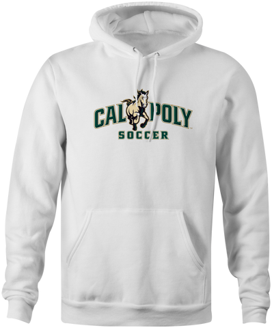 Cal Poly Soccer 8 oz. Mid-Weight Hooded Sweatshirt
