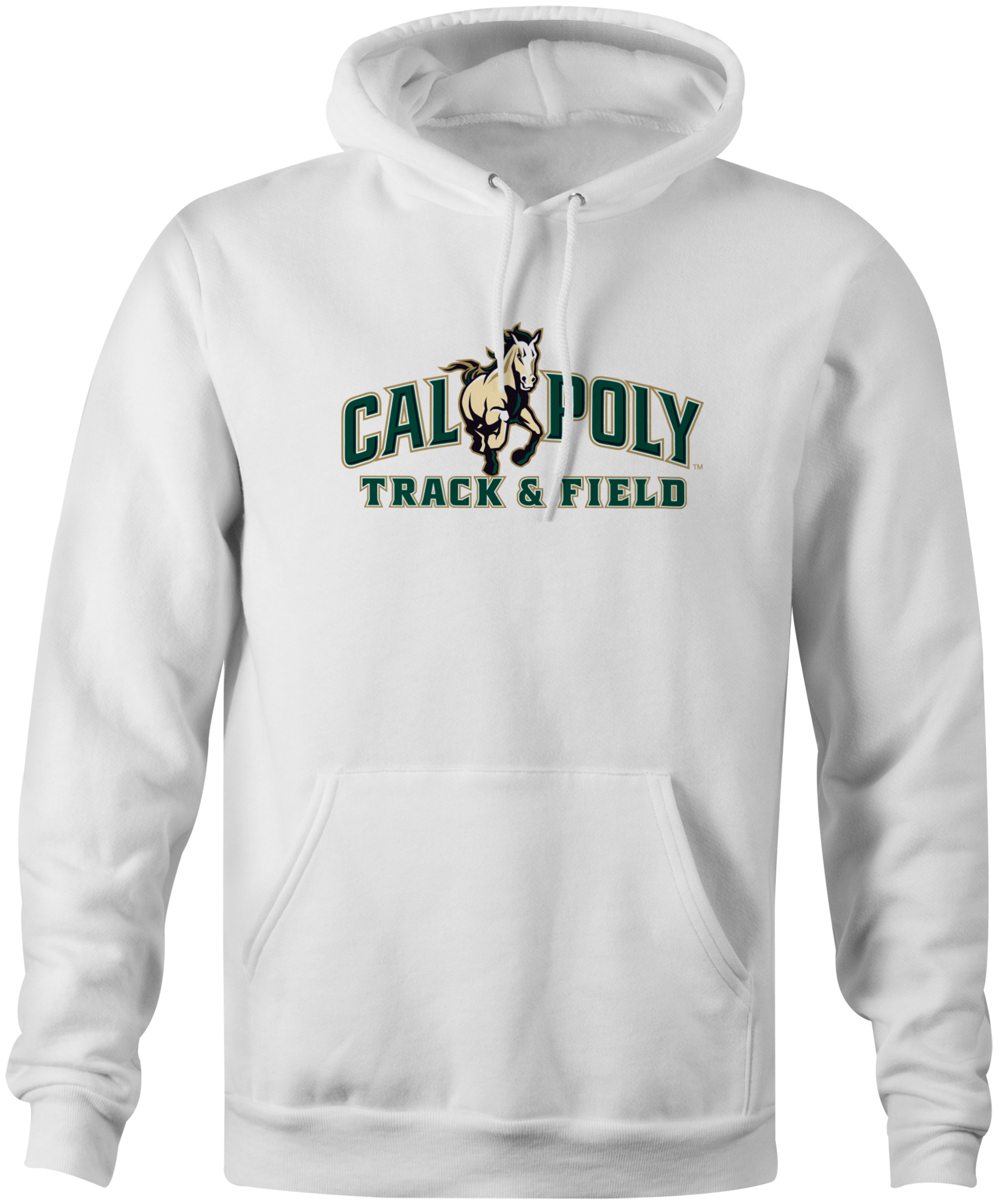 Cal Poly Track & Field 8 oz. Mid-Weight Hooded Sweatshirt