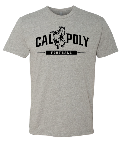 Cal Poly Football 1-Color Print Short Sleeve Standard Cut T-Shirt