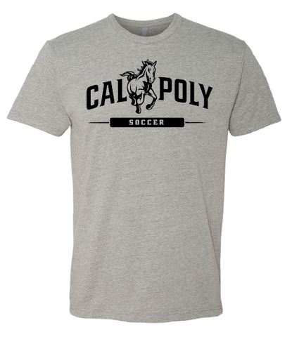 Cal Poly Soccer 1-Color Print Short Sleeve Standard Cut T-Shirt