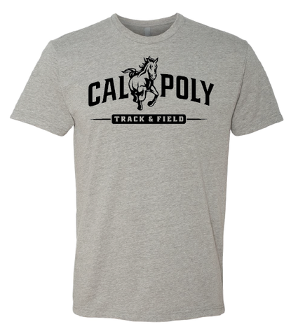 Cal Poly Track & Field 1-Color Print Short Sleeve Standard Cut T-Shirt